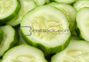 Background from cucumbers
