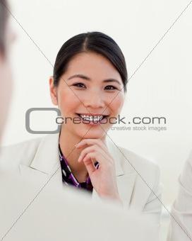 Portrait of an Asian female executive