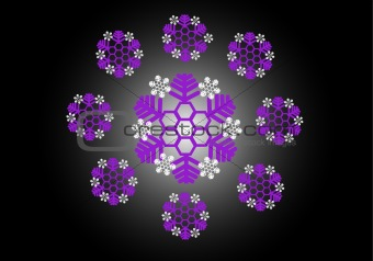 Abstract snowflake