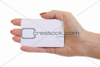 business card over white