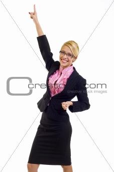 attractive businesswoman winning