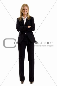 blonde businesswoman wearing office clothes