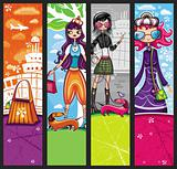 shopping girls - banners
