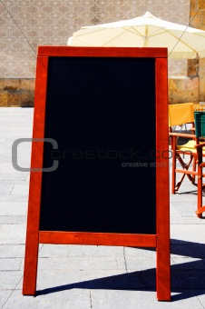 blackboard menu