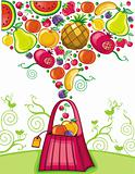 Shopping bag with fruit splash (fruit series)