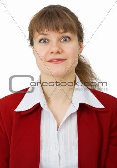 Portrait of enchanted woman