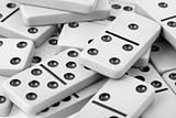 Old gray dominoes close up