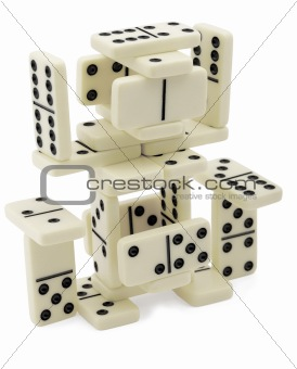 Abstract figure of dominoes