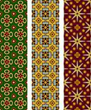 Three seamless geometric patterns