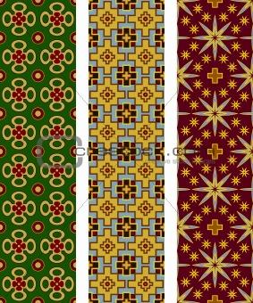 Three seamless geometric patterns