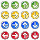 Set of colorful arrows icons on white