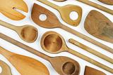 Wooden spoon background