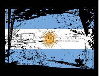 grunge Argentina flag vector