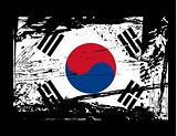 grunge South Korea flag vector