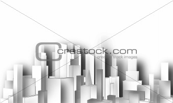 Cutout city skyline