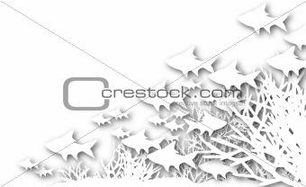 Cutout coral fish