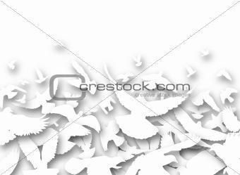 Cutout pigeons