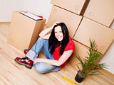 woman moving to new house
