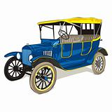 vector isolated old colored car