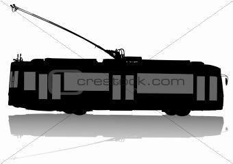 Modern trolleybus