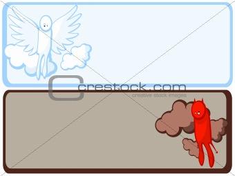 angel and demon frame