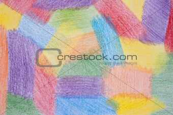 Abstract background drawn by colour pencils.