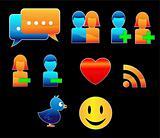 Shiny Social Networking Web Icons