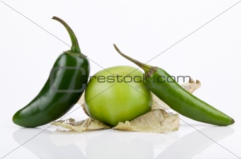 Tomatillo, Jalapeno and Serrano Peppers