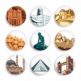 Travel destination badges | Set 3