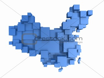 box map of china