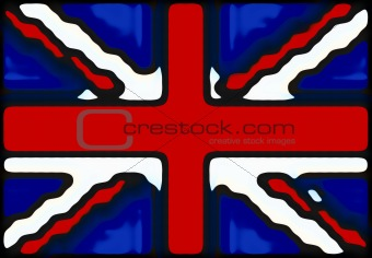 Abstract UK Flag