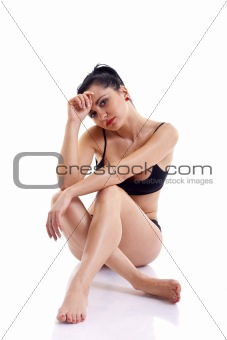 sitting young woman