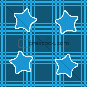 Abstract seamless background with blue stars