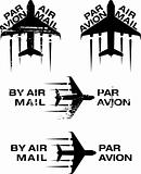 Par Avion Rubber stamp 02
