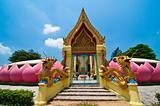 Buddhist style church gate