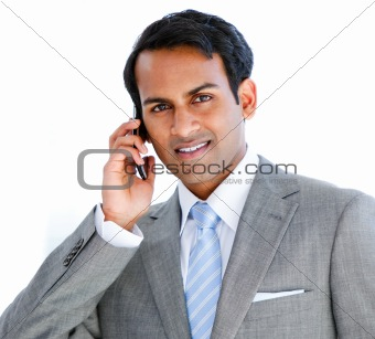 Portrait of a businessman taking a phone call