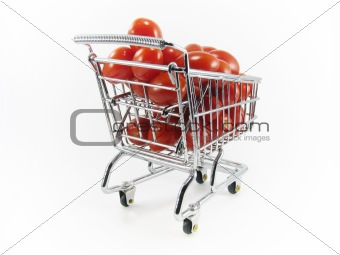 Cherry Tomatoes in Shopping Cart