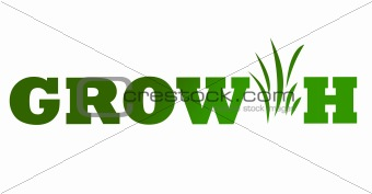 Green business growth icon