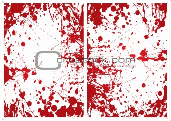 blood splat frame