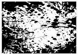 grunge black splat frame