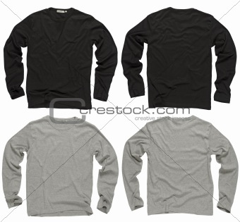 Blank black and gray long sleeve shirts
