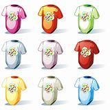isolated baby t-shirt set