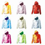 isolated hoodies set