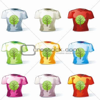 isolated man t-shirt set