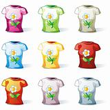 isolated women t-shirt set