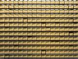 golden tiled wall