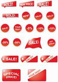 One sale stickers