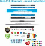 Web 2.0 collection - mixed elements