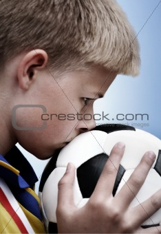 Boy and a football