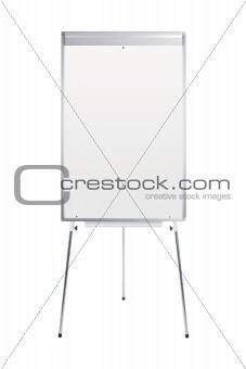 blank whiteboard stand